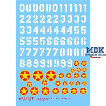 Nordvietnamesiche Turmnummern + Abzeichen