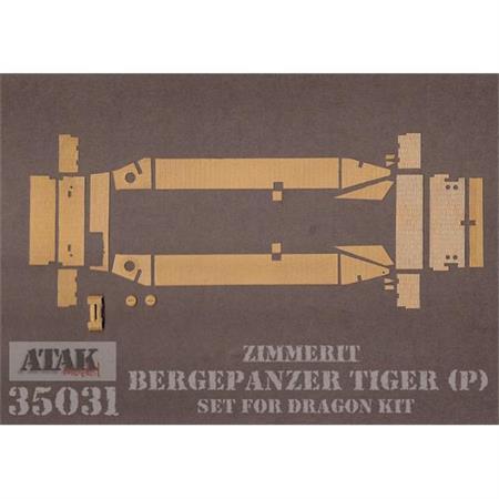 Zimmerit für Berge Tiger (P) (Dragon 6210)
