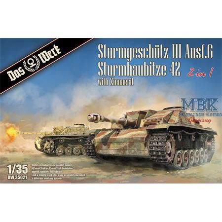 StuG III Ausf.G / StuH 42 2in1 mit Zimmerit