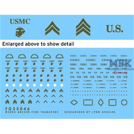 US Marine Corps WWII Uniformabzeichen