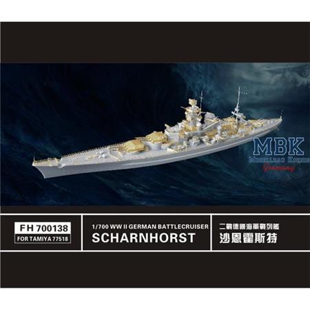 WW II   German Battlecruiser Scharnhorst