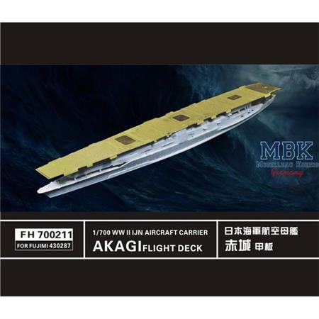 WW II  IJN Akagi Aircraft Carrier Flight Deck