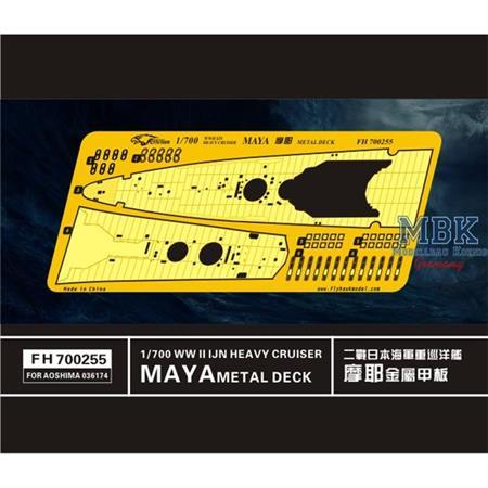 WW II  IJN Heavy Cruiser Maya Metal Deck