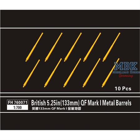 British 5.25in(133mm) QF Mark I Metal Barrels