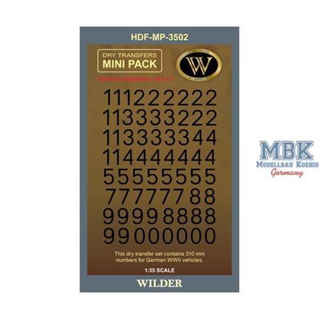 WWII German Numbers Set 2.1