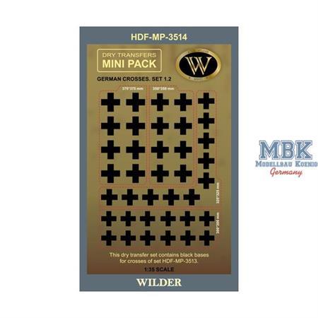 WWII German Crosses  - Balkenkreuze Set 1.2