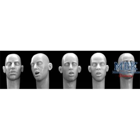5 different head, sleeping
