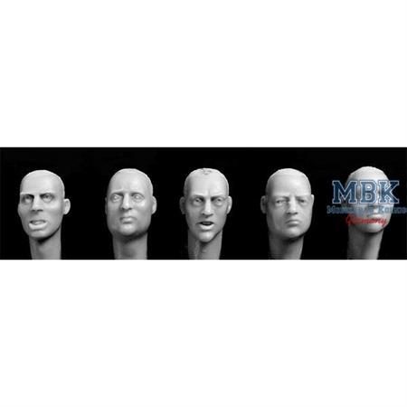 5 European Heads defined irises, stubble haircuts