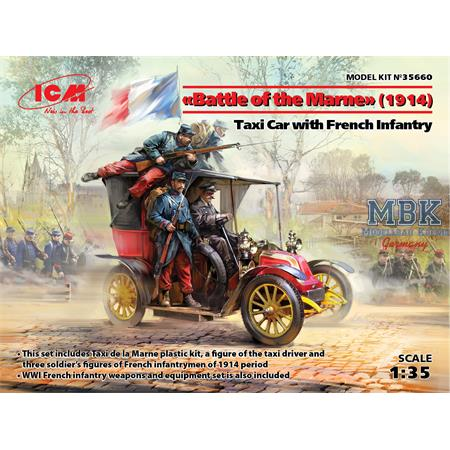 """Battle of the Marne"" Taxi car + French Infantry"