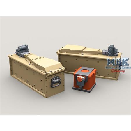 M134 Minigun 3,000 round 3-Bay Ammo Box + Battery