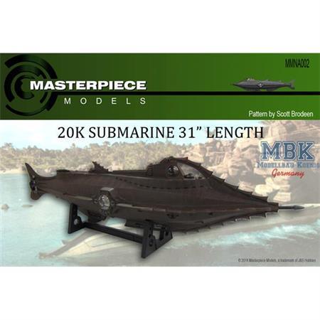 Submarine Nautilus, 31 inches in length  1:77