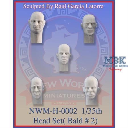 Head Set No. 2 bald heads
