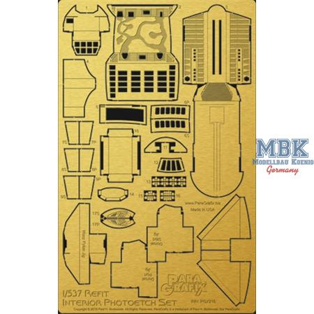 Enterprise Refit Interior Photoetch Set 1:537