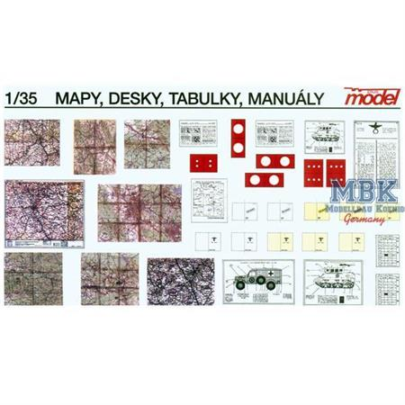 Maps, boards, manuals
