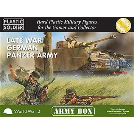 LATE WAR GERMAN PANZER ARMY / 15mm