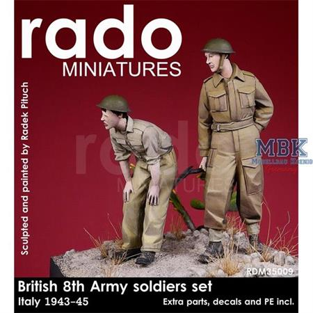 British 8th Army, Italy 1943-45, two figures