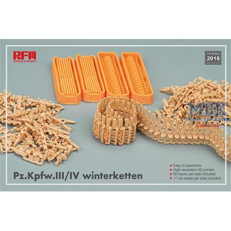 Tracks for Pz.III/IV Winterketten (3D printed)