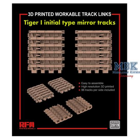 Tracks forTiger I initial type mirror (3D printed)