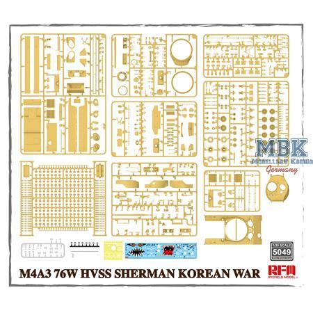 M4A3 76w hvss Sherman Korean war