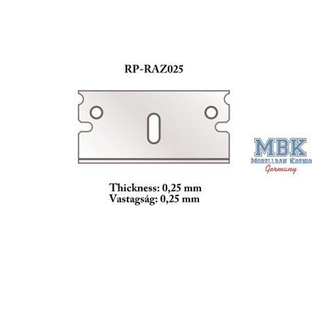 Razor 0,25mm spare for Cutter /  Rasierklinge