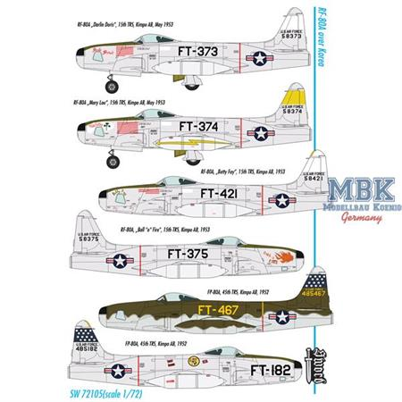 Lockheed RF-80A over Korea 6 camouflaged versions