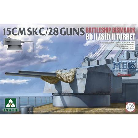 15 cm SK C/28 Bismarck Geschützturm 1:35