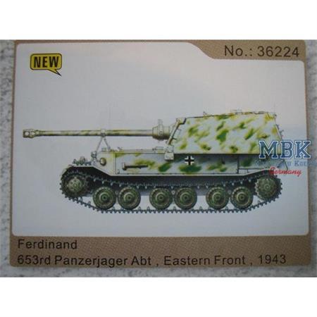 Ferdinand 653. Panzerjäger Abt., Ostfront 1943