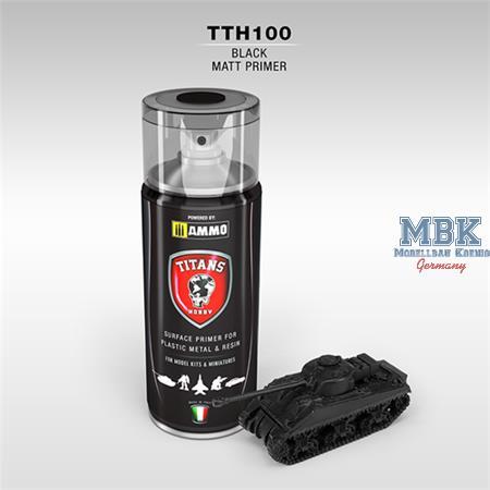 BLACK MATT PRIMER Spray for Plastic, Metal & Resin