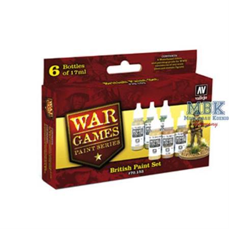 WWII Wargames Series British Paint Set
