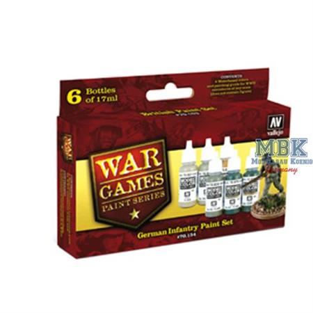 WWII Wargames Series German Infantry Paint Set