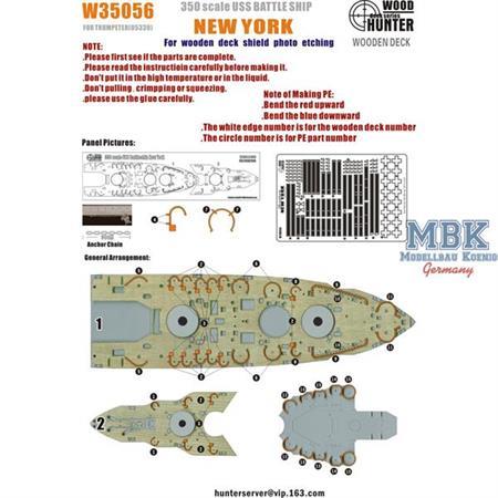 USS BATTLESHIP NEW YORK (FOR TRUMPETER 05339)w/PE