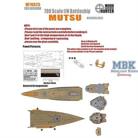 WWII IJN Battleship Mutsu