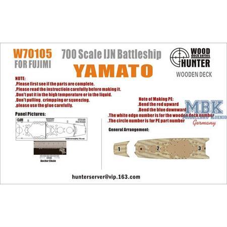 IJN BATTLESHIP YAMATO (FOR FUJIMI 460000)