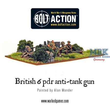 Bolt Action: British Army Six Pounder AT Gun