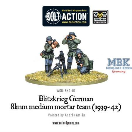 Bolt Action: Blitzkrieg German 81mm Mortar