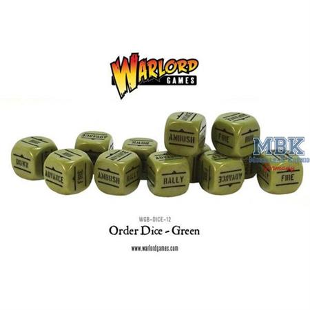 Bolt Action: Order Dice pack - Green