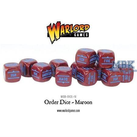 Bolt Action: Order Dice pack - Maroon
