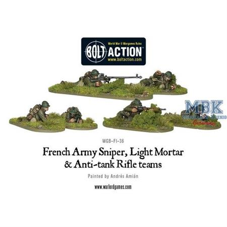 Bolt Action: French Sniper, Light Mortar and ATR