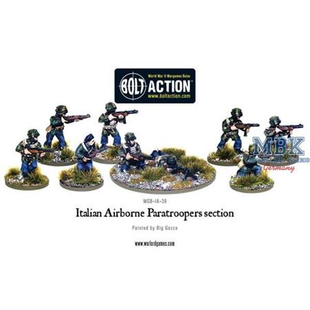 Bolt Action: Italian Airborne Paratroopers section