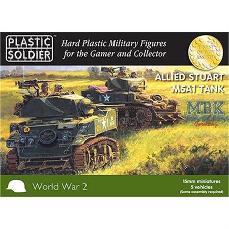 Allied M5A1 Stuart Tank 15mm