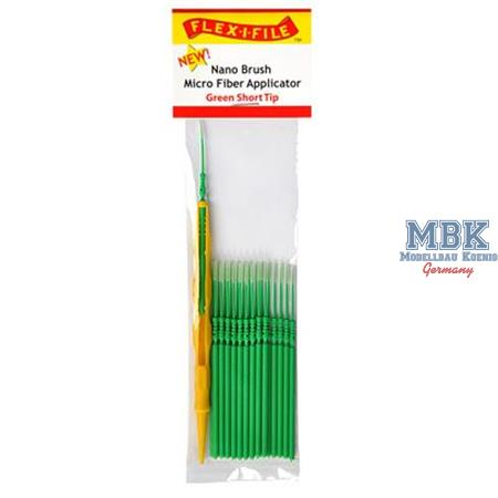 Green Short Tip, Nano Brush Micro Fiber Applicator