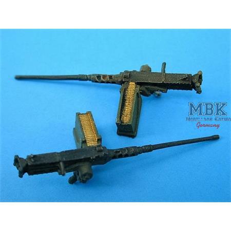0.50 Cal. MACHINE GUNS & Ammo boxes (Qty-5)