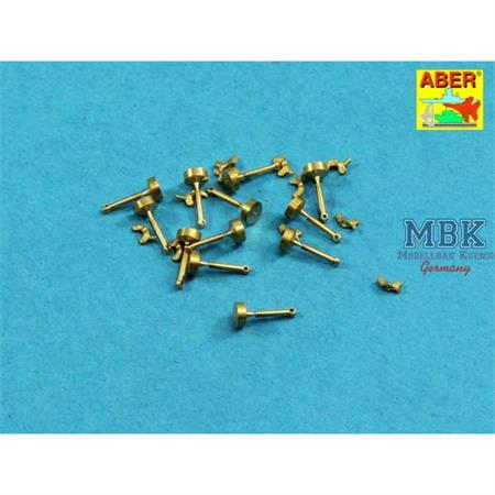 Wing nuts with turned bolt 12x pcs