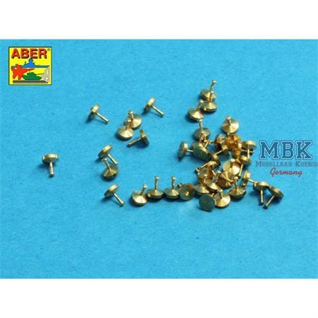 Turned Rivets / Nieten 0,9x1,3x0,5mm   40 Stck