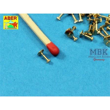 Turned Hexagonal bolts 1,34x2,6mm  x 30 pcs.