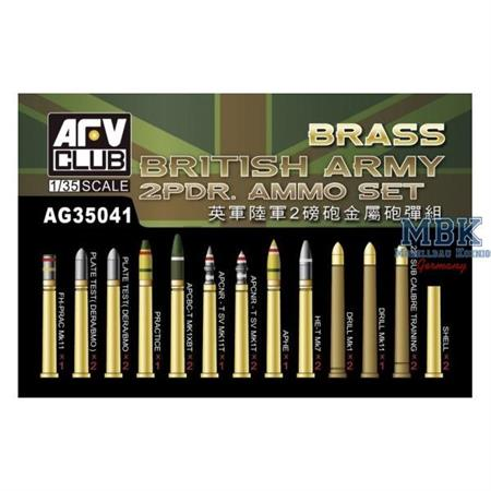 WWII British Army 2 PDR. Ammo Set