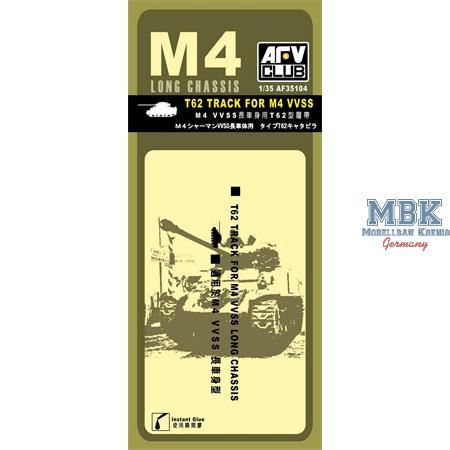 T62 Ketten Sherman M4A4 VVSS - Gummiketten