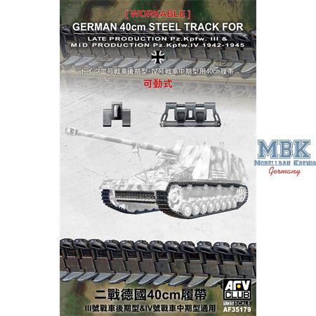 Deutsche 40cm Einzelgliederkette (Pz. III & IV)