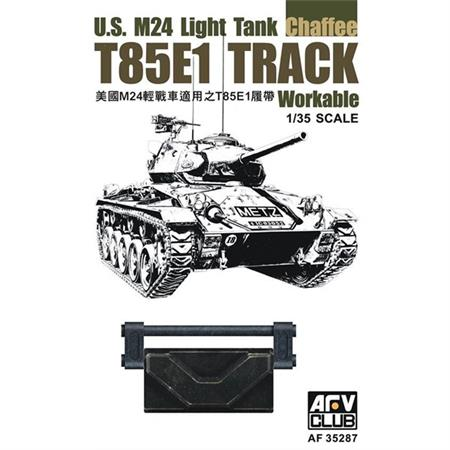 T85E1 TRACK for US M24 Light Tank Workable