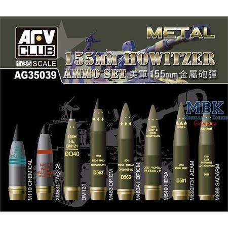 155mm Howitzer Brass Ammo Set